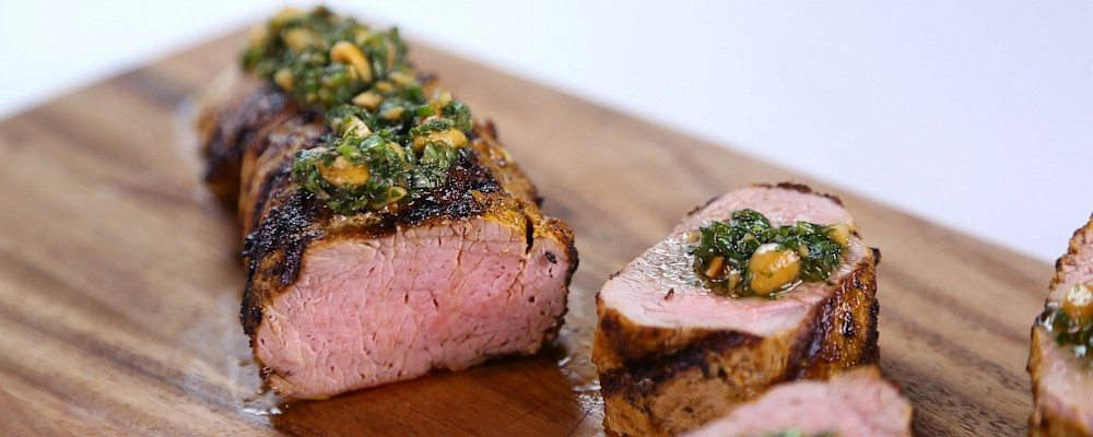 Bobby Flay\'s Coconut-Marinated Pork Tenderloin