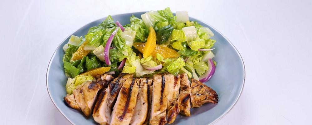 Allison Dalke\'s Grilled Orange Chicken and Romaine Salad