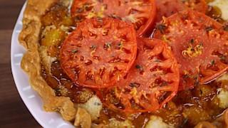 Peach & Tomato Pie