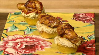 BBQ Chicken Wing Cupcakes