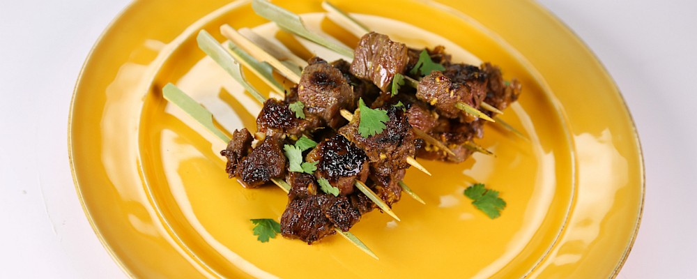 Beef Sirloin with Soy, Ginger and Cilantro