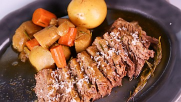 Brisket with Pearl Onions and Potatoes