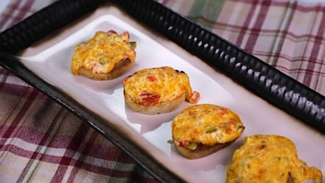 Deviled Cheese Toasts
