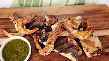 Mixed Seafood Grill with Salsa Verde
