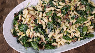Cavatelli with Spinach & Prosciutto