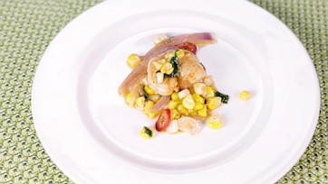 Summer Corn & Shrimp Sauté