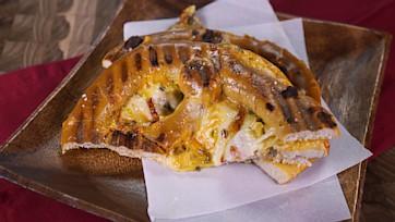 Soft Pretzel Ham & Cheese Panini