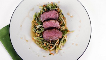 Spiced Grilled Pork Tenderloin with Broccoli Carrot Slaw