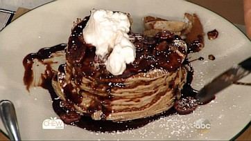 Cinnamon Chocolate Malt Pancakes