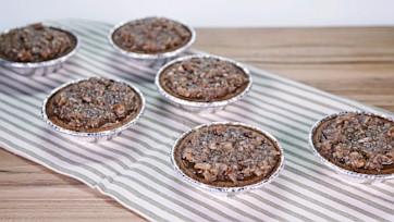 Graham Cracker Pumpkin Pie with Coconut & Pecan Topping