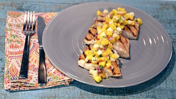 Grilled Grouper with Key Lime Mango Salsa