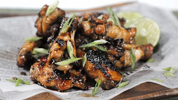 Spicy Rum Marinated Grilled Chicken Wings