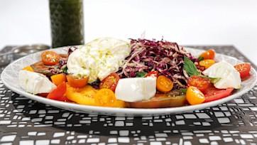 Caprese Salad with Burrata & Radicchio