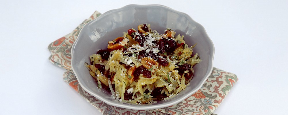 Roasted Spaghetti Squash with Craisins®, Herbs, and Pecans Recipe by ...