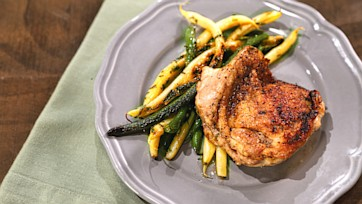 Charred Chicken Thighs with String Bean Salad