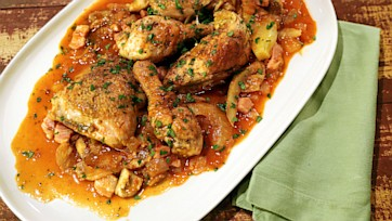 Chicken Cacciatore with Fennel and Porcinis