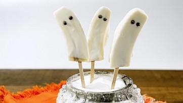 Frozen Ghost Banana Pops