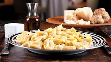 Agnolotti with White Truffle Butter Sauce