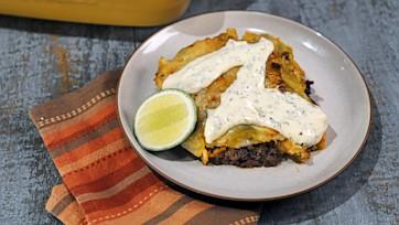 Midnight Chile Beef & Sweet Potato Enchiladas