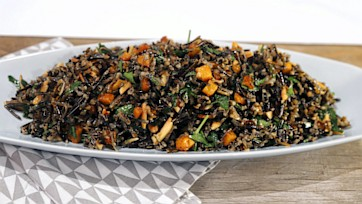Wild Rice with Squash, Mint and Almonds