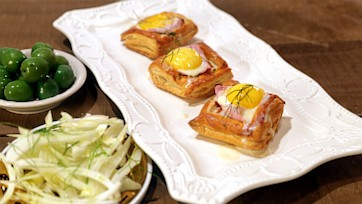 Holiday Ham and Fondue Pastries