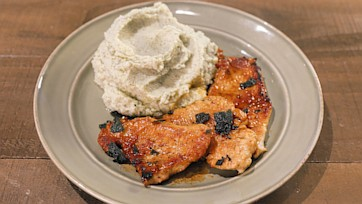 Turkey Scallopini with Apple Cider Gravy & Celery Root Mash