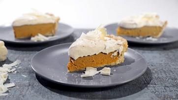 Sweet Potato Pie with White Chocolate Mousse