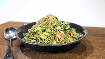 Pickled Ginger Brussels Sprouts Salad