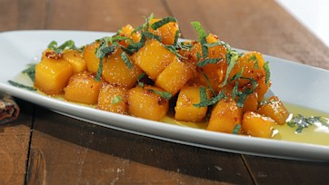 Sweet and Spicy Butternut Squash with Salsa Verde