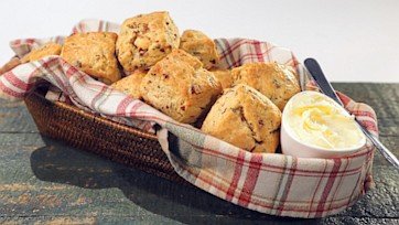 Savory Scones with Pecorino & Pancetta