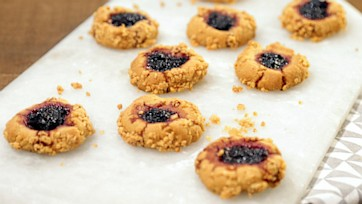 PB & Jam Thumbprint Cookies