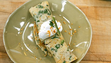 Spicy Sausage Corn Chip Crepes