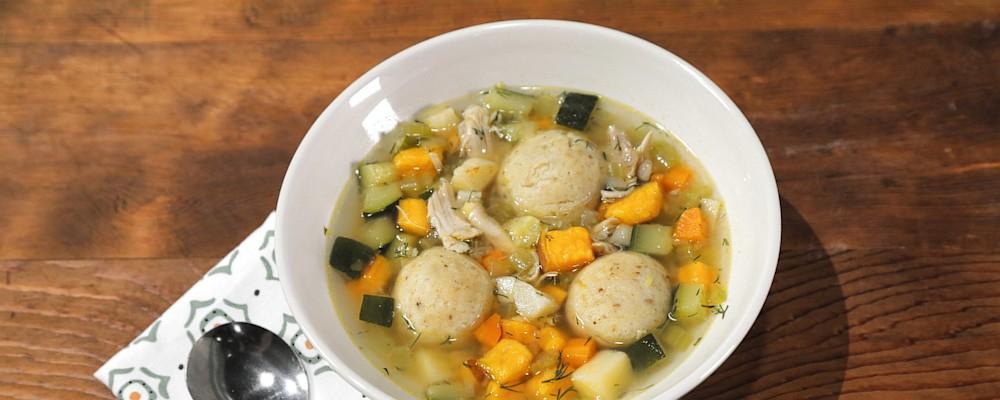 Chicken Matzo Ball Soup Recipe by Brooke Burke - The Chew