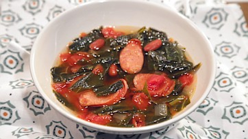 Andouille and Collard Greens Soup