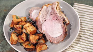 Pork Loin with Super-Crisp Roasted Potatoes