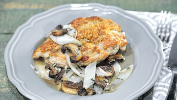 Rosemary Chicken with Mushrooms and Endive