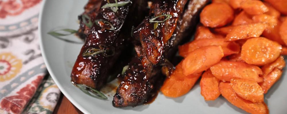 Brown Sugar Bourbon Barbecue Ribs Recipe by Francine Austin - The Chew