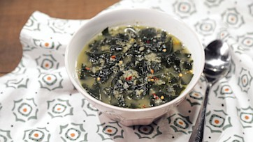 Freekeh and Kelp Soup