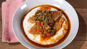 """New Orleans Grillades with Paleo """"Grits"""""""