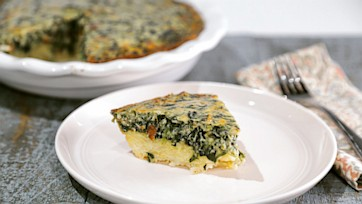 Spinach Hash Brown Quiche