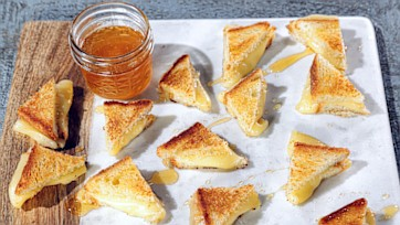 Mini Grilled Cheese with Fontina and OTTO Black Truffle Honey