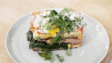 Prosciutto & Spinach Monte Cristos