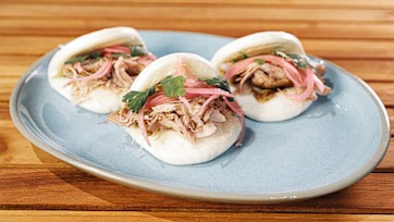 Beer-Braised Pork Buns