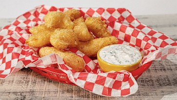 Fried Cheese Curds with Ranch-Style Sauce