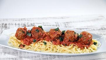 Spaghetti & Pecan Meatballs