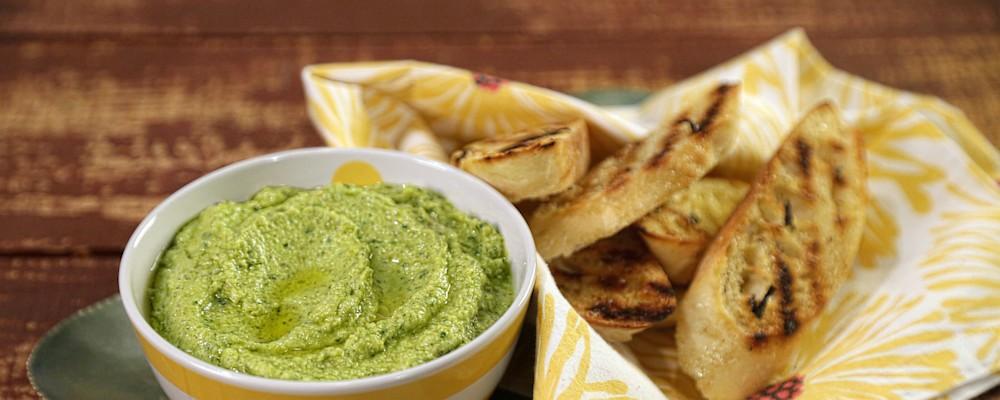 Spring Pea Hummus Recipe by Michael Symon - The Chew
