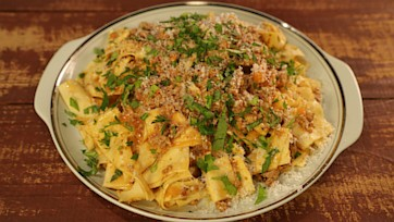 Bolognese with Fresh Pappardelle