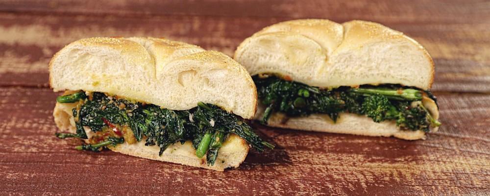 Spicy Broccoli Rabe & Provolone Sandwiches Recipe by Mario Batali ...