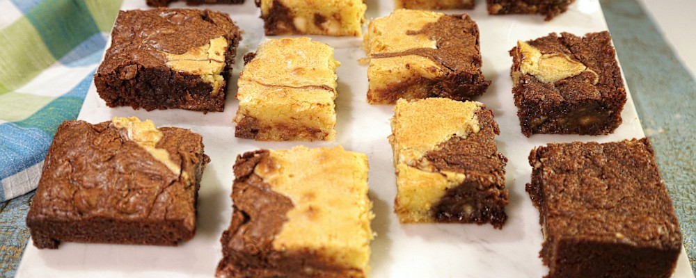 The Chew   Triple Chocolate Swirl Brownies