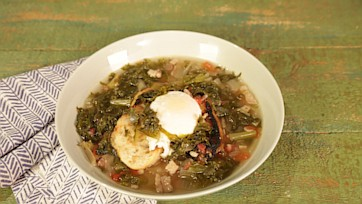 Chicory Soup with an Egg